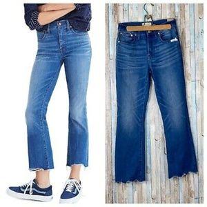 Madewell Cali-Demi Boot Raw Hem Jeans